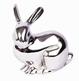 Coelho escultura alumínio