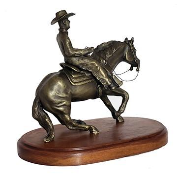 Escultura Cavalo Western Pleasure