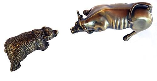 Kit Touro e Urso de wall Street Bronze Maciço