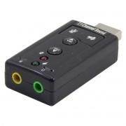 Adaptador de Som USB 7.1 Canais 2 Portas USB02