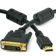 Cabo HDMI Macho x DVI 24+1 Macho 1,50mts c/ Filtro Xtrad XT-5018