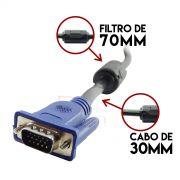 Cabo VGA 15 Metros com Filtro Macho x Macho VERDE VGA-15