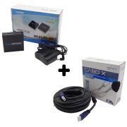 Kit Splitter HDMI 1x2 + Cabo HDMI 10mts 1.4 3D