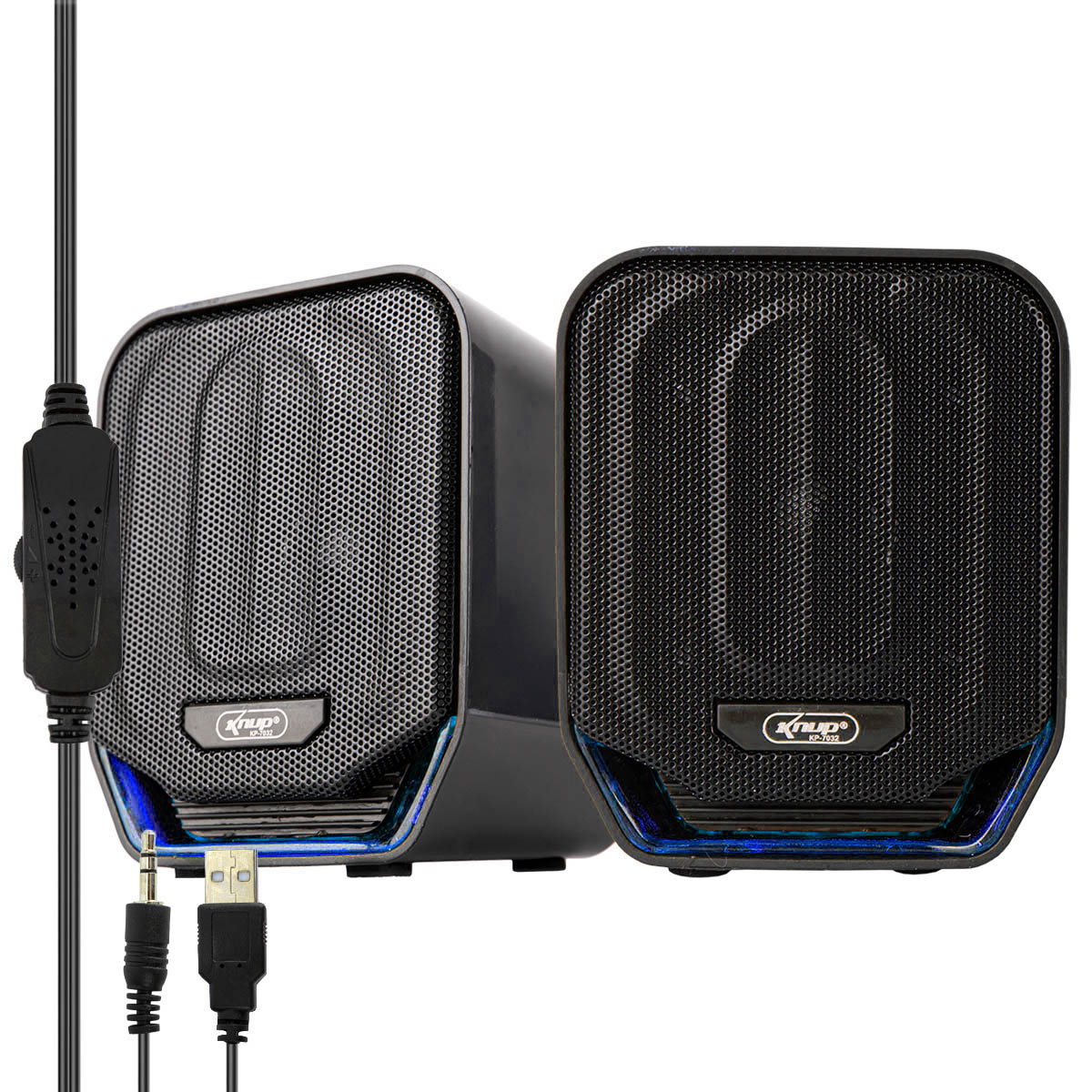 Caixa de Som para PC e Celular 12 Watts RMS 2.0 Auxiliar P2 Knup KP-7032