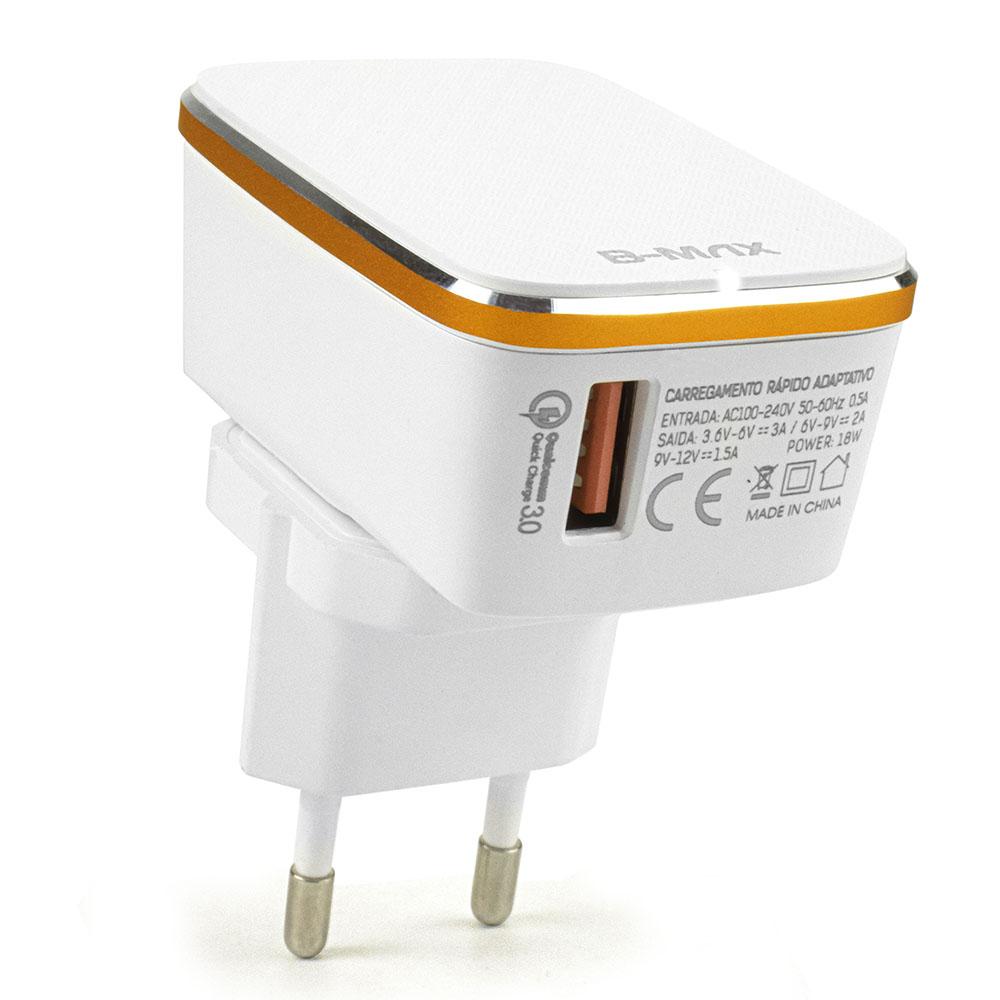 Carregador Turbo Quick Charge 3.0 18w para Celulares B-Max