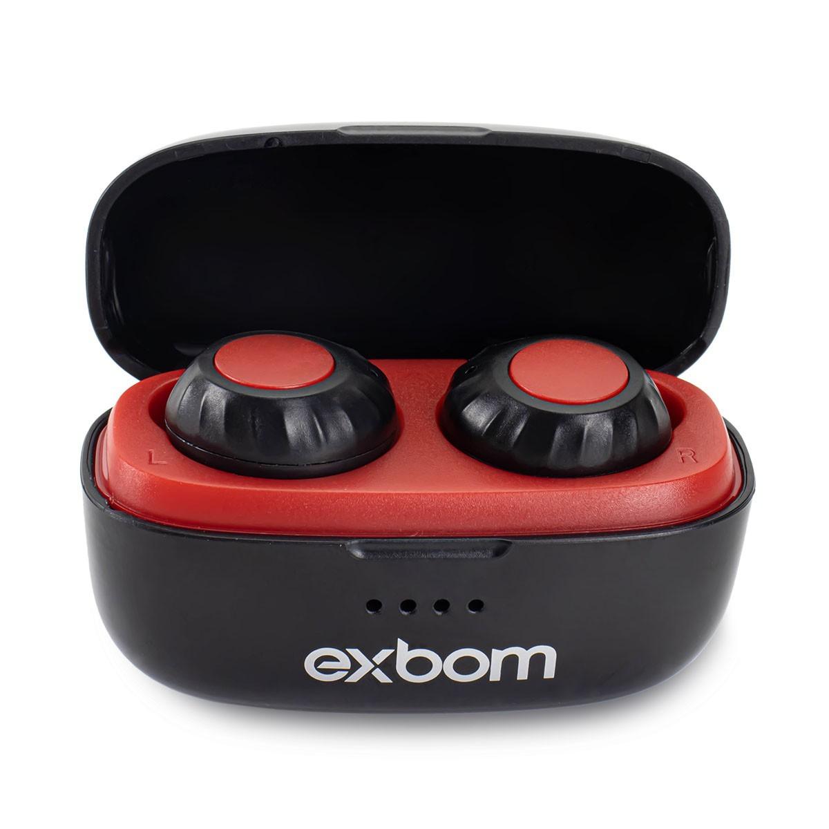 Fone Bluetooth Sem Fio Intra-auricular Com Estojo Carregador Exbom BTWS-S30