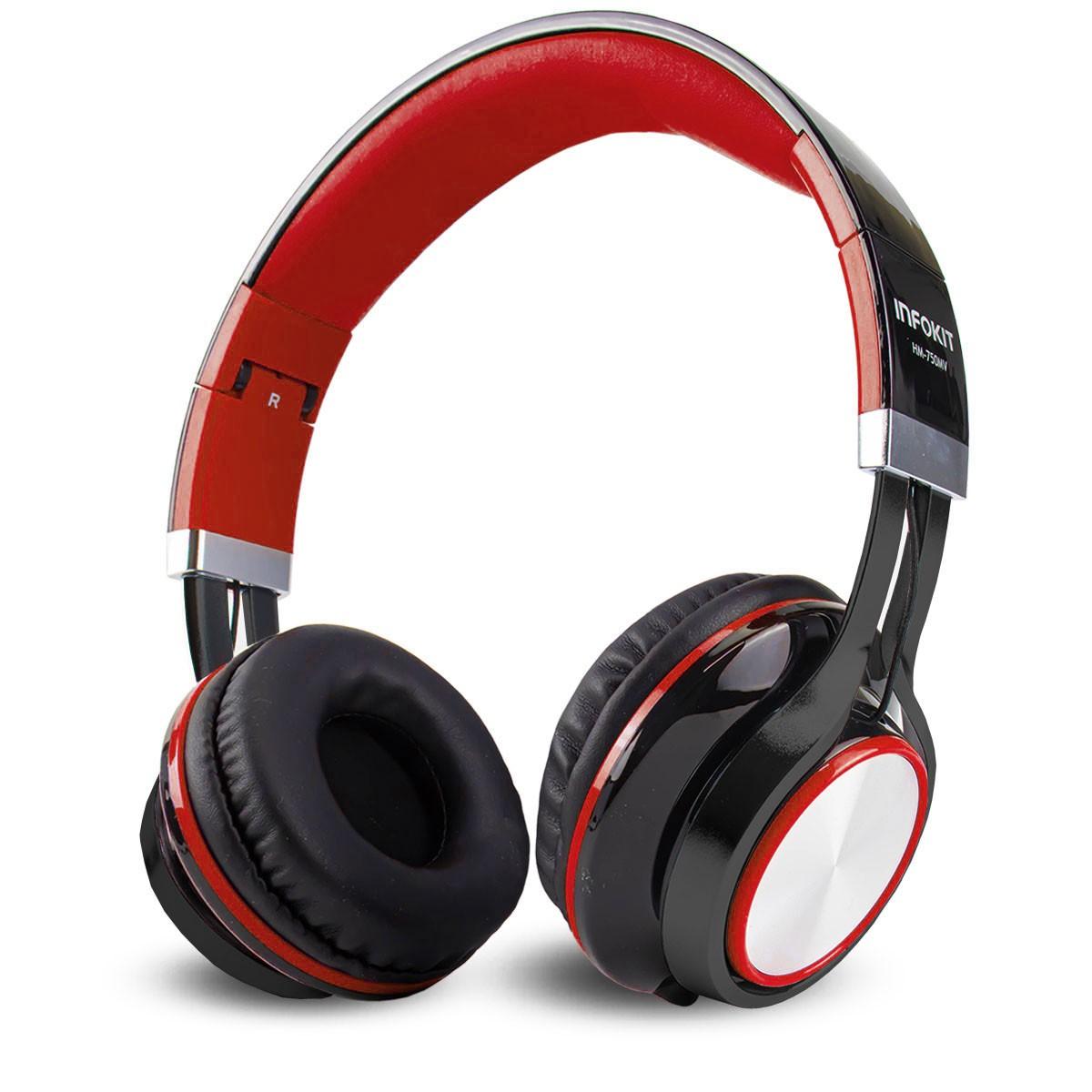 Fone Headphone Super Bass P3 com Microfone para Celular Infokit HM-750MV