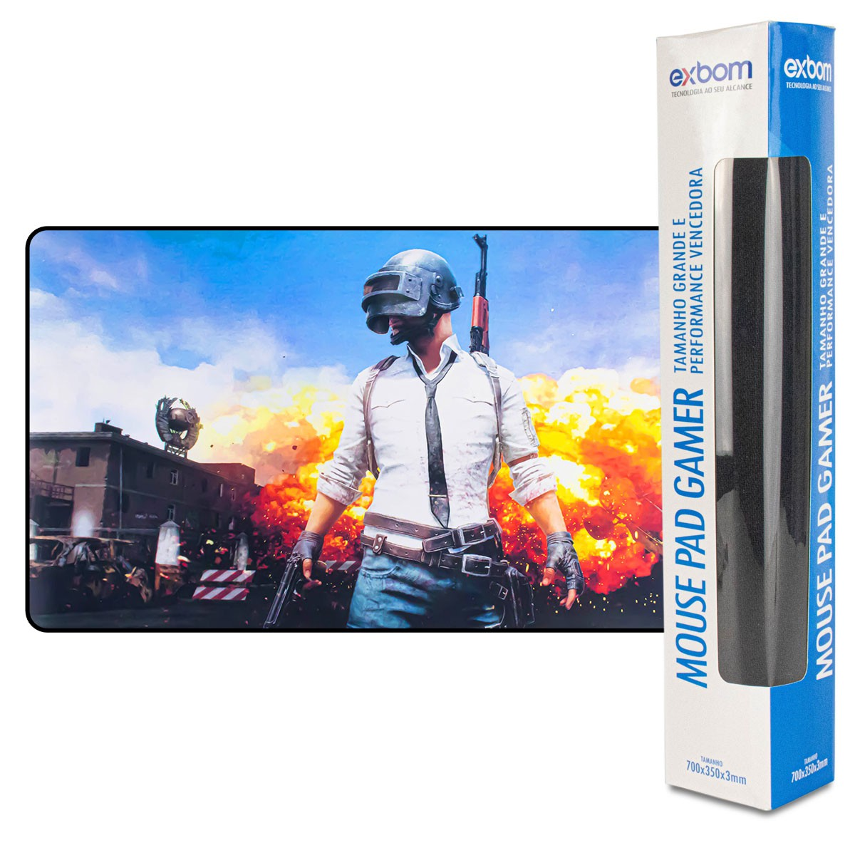 Mouse Pad Gamer Exbom MP-7035C Extra Grande 700x350x3mm