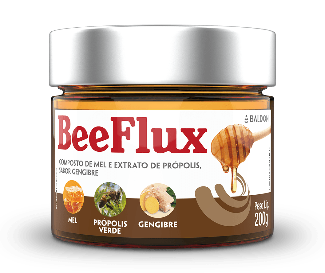 BEEFLUX - MEL, PRÓPOLIS E GENGIBRE 200g