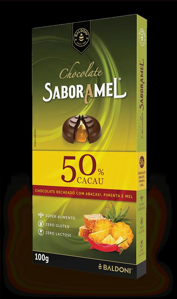 Chocolate SABORAMEL Abacaxi com Pimenta Tablete (uni)