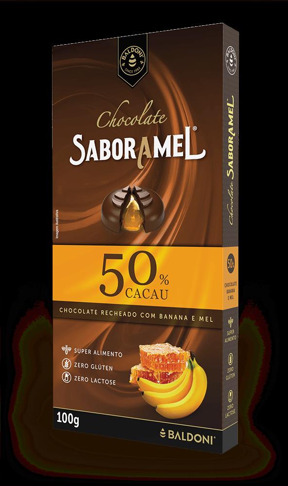 Chocolate SABORAMEL Banana Tablete 100g (uni)