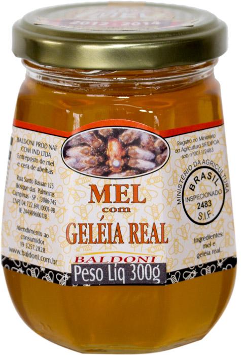 MEL COM GELEIA REAL POTE 300G