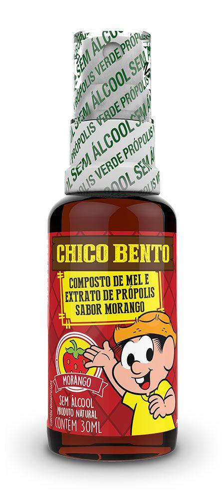 PRÓPION CHICO BENTO MORANGO - SPRAY DE PRÓPOLIS SEM ÁLCOOL SABOR MORANGO