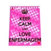 Caderneta - KEEP CALM AND LOVE ENFERMAGEM