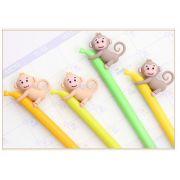 Caneta -  Macaco/banana -  Kit com 2 canetas