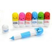 Caneta - Modelo Vitamina - Kit com 6 canetas