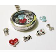 Chaveiro Relicário - Coleção Love - Modelo 1