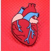 Pin / Broche - Coração - Red&Blue