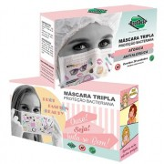 Máscara Descartável Tripla c/ Elástico - Fashion  c/20