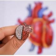 Pin / Broche - Coração - Cérebro