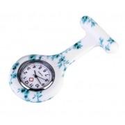 Relógio Estampado - Floral Verde Água