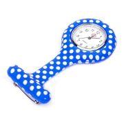 Relógio Estampado - Poá azul