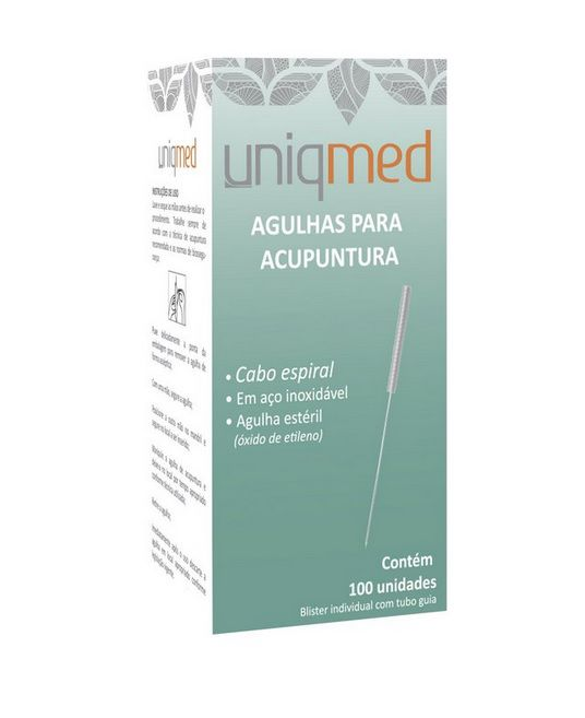 Agulha Acupuntura 0,25X30mm c/ 100 un. - UNIQMED