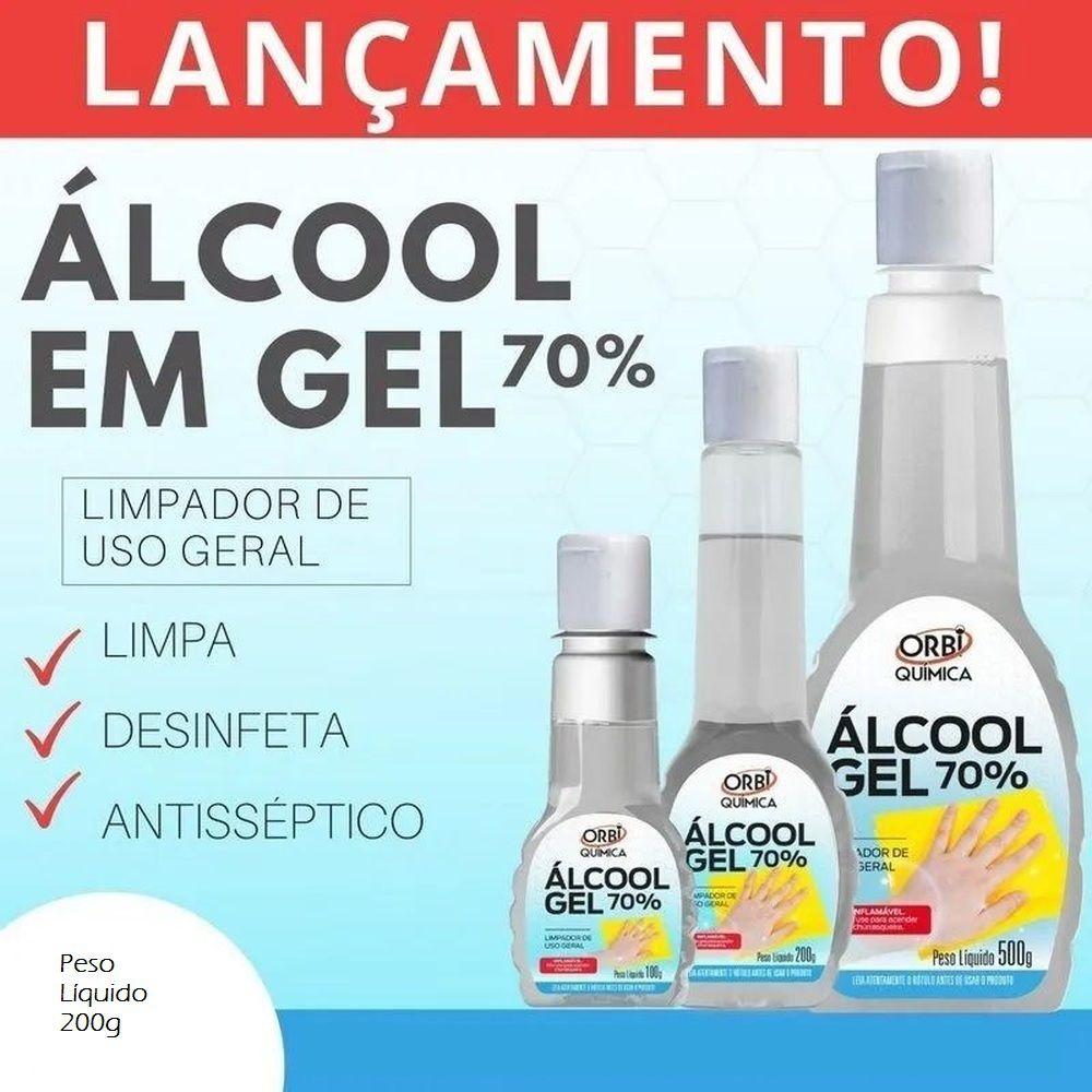 Álcool Gel 70% Antisséptico - Orbi - 200g