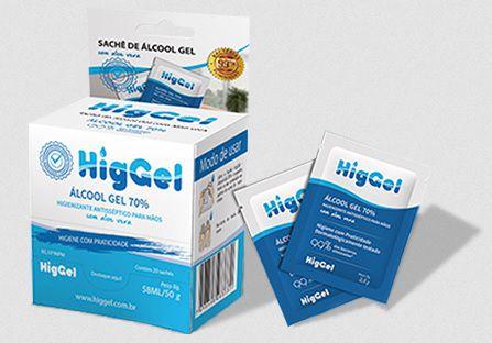 Álcool Gel - Higgel –  C/ 20 unidades