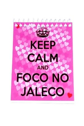 Caderneta - KEEP CALM AND FOCO NO JALECO