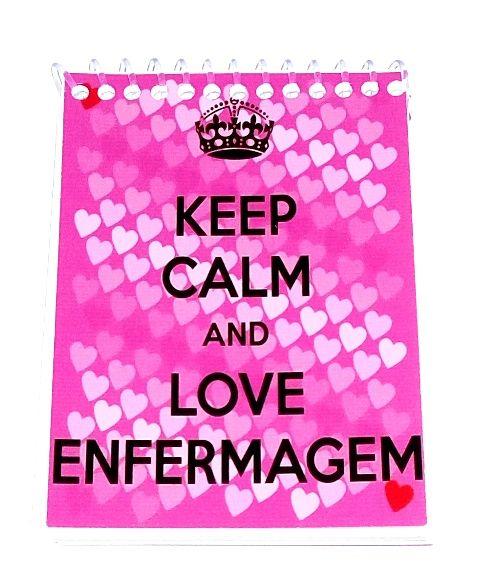 Caderneta - KEEP CALM AND LOVE ENFERMAGEM