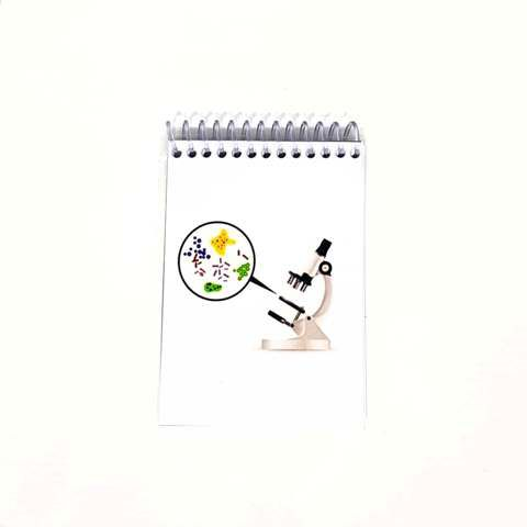 Caderneta - Microscópio