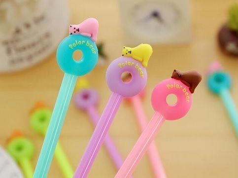Caneta -  Donuts/Urso Polar -  Kit com 4 canetas