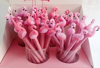 Caneta - Flamingo- kit com 2 canetas