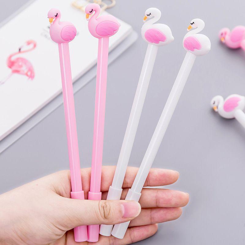 Caneta - Flamingo- kit com 2 canetas - Brnca e Rosa