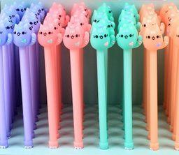 Caneta -  Gatinhos -  Kit com 4 canetas - mod2