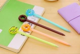 Caneta - Modelo Donuts -  Kit com 3 canetas