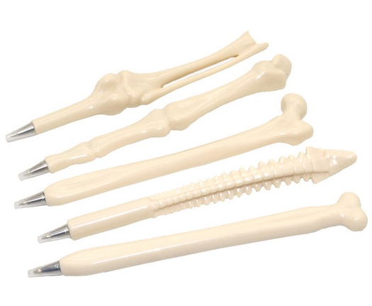 Caneta - Modelo Osso - Kit com 15 canetas