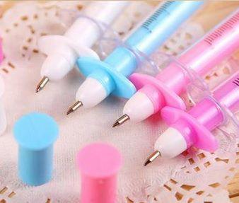Caneta - Modelo Seringa - Kit com 4 canetas