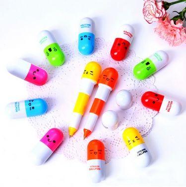 Caneta - Modelo Vitamina - Kit com 4 canetas