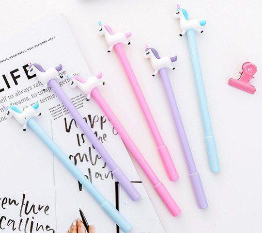 Caneta - Unicórnio - kit com 3 canetas