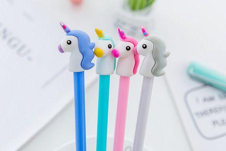 Caneta - Unicórnio - kit com 4 canetas