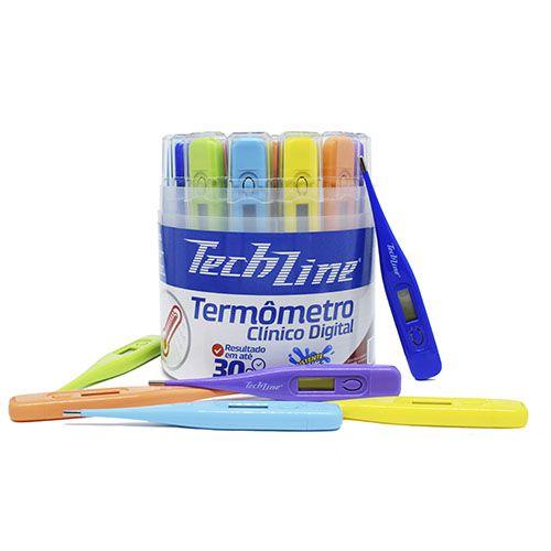 Termômetro Clínico Digital Techline