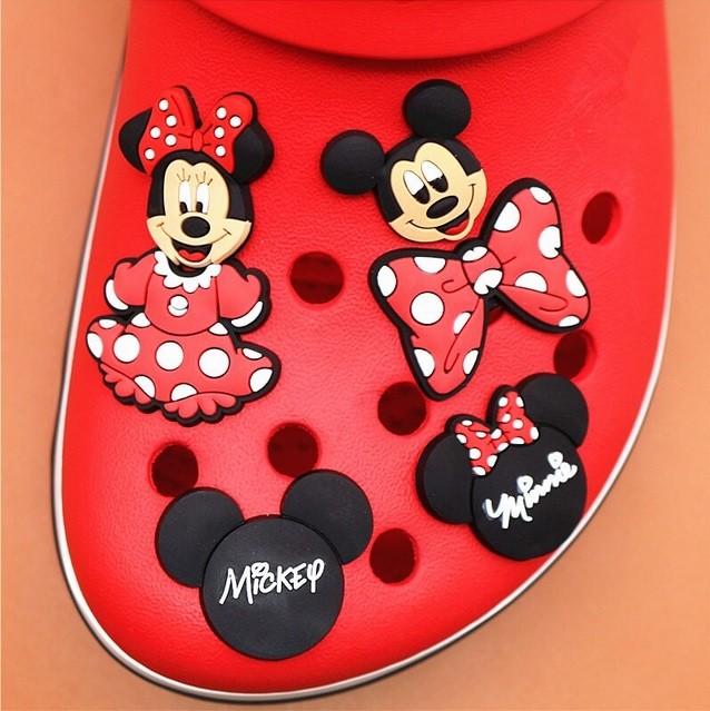 Enfeite para Croc - Mickey / Minnie
