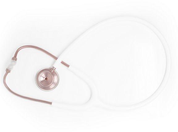 Estetoscópio Acoustica Lightweight - White & Rose Gold