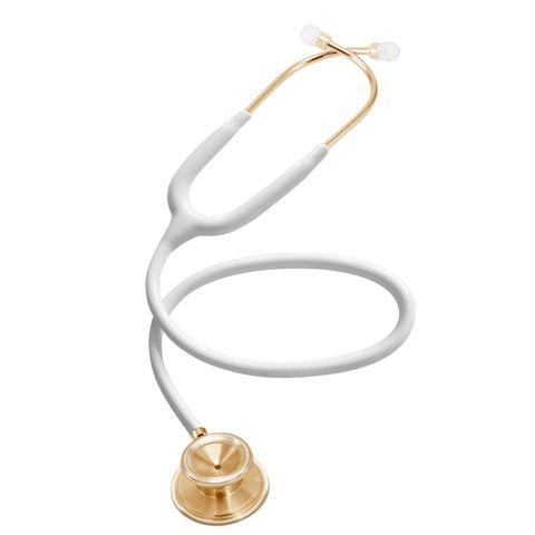 Estetoscópio Acoustica Lightweight - White & Gold