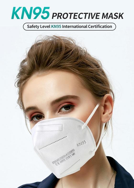 Kit c/ 10 - Máscara Respirador -KN95 - sem válvula