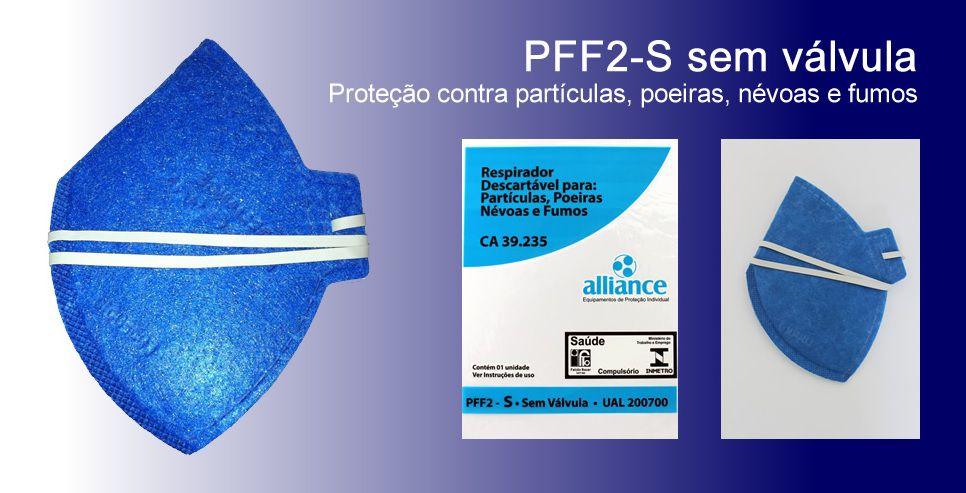 Kit c/ 5 - Máscara Respirador PFF2 - sem válvula - Alliance
