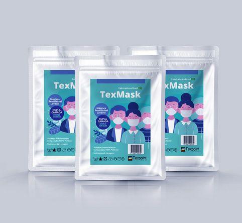 Kit c/5 - Máscara reutilizável 100% poliéster