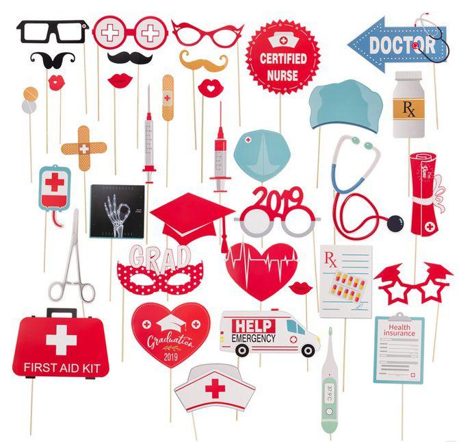 Kit para Festa/ Formatura Medicina, Enfermagem